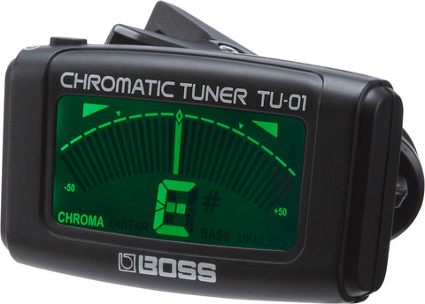 Boss TU-01 Clip-On Chromatic Tuner - Available at Lark Guitars