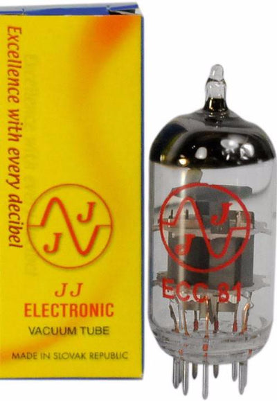 JJ Electronic ECC81 / 12AT7 Preamp Tube - ECC81 - Available at Lark Guitars