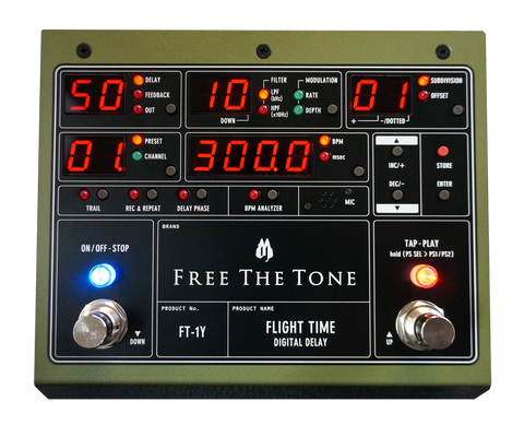 Free The Tone Standard Series FT-1Y Flight Time Digital Delay