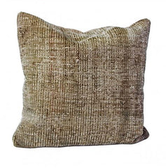 Gray Turkish rug accent pillow.