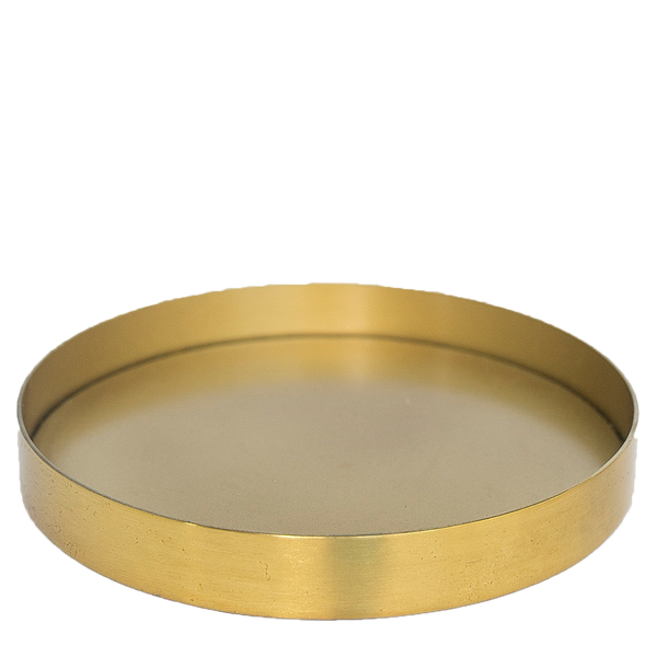 Large Brushed Gold Aluminum Tray