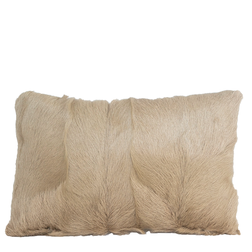 Goat Fur Accent Pillow