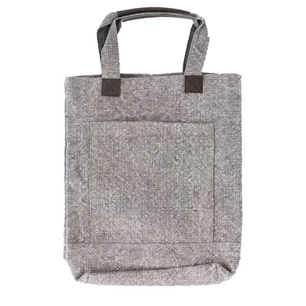Washed Linen Gray Tote