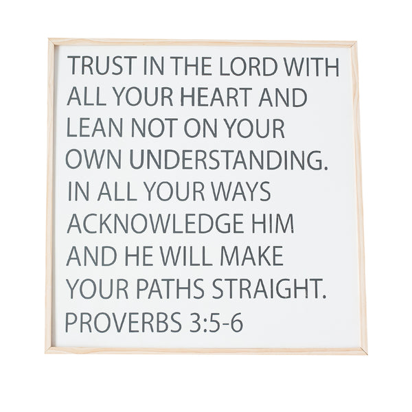 Trust in the Lord wooden sign
