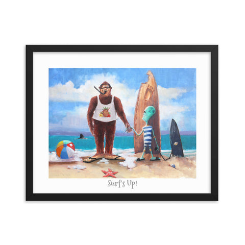 "Surf's Up Framed poster 16"" x 20"""
