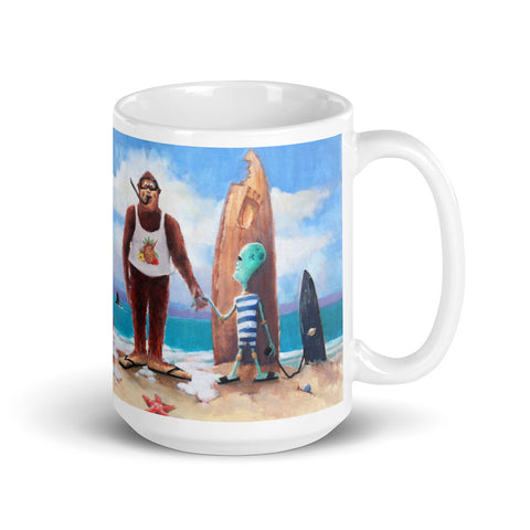 Surf's Up Mug - With Text