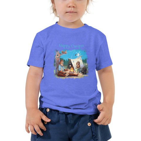 Happy Camper Toddler Short Sleeve Tee