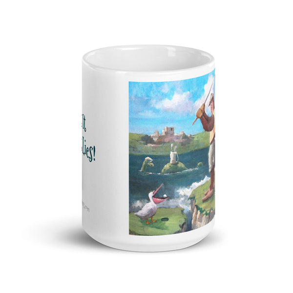 Hit it as it Lies Golf Mug - With Text