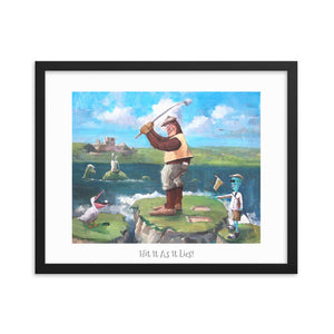 "The Golfers Framed Poster 16"" x 20"""