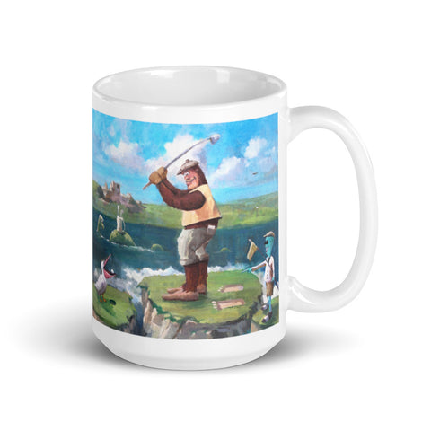 Bigfoot Golf Mug - Dual Image