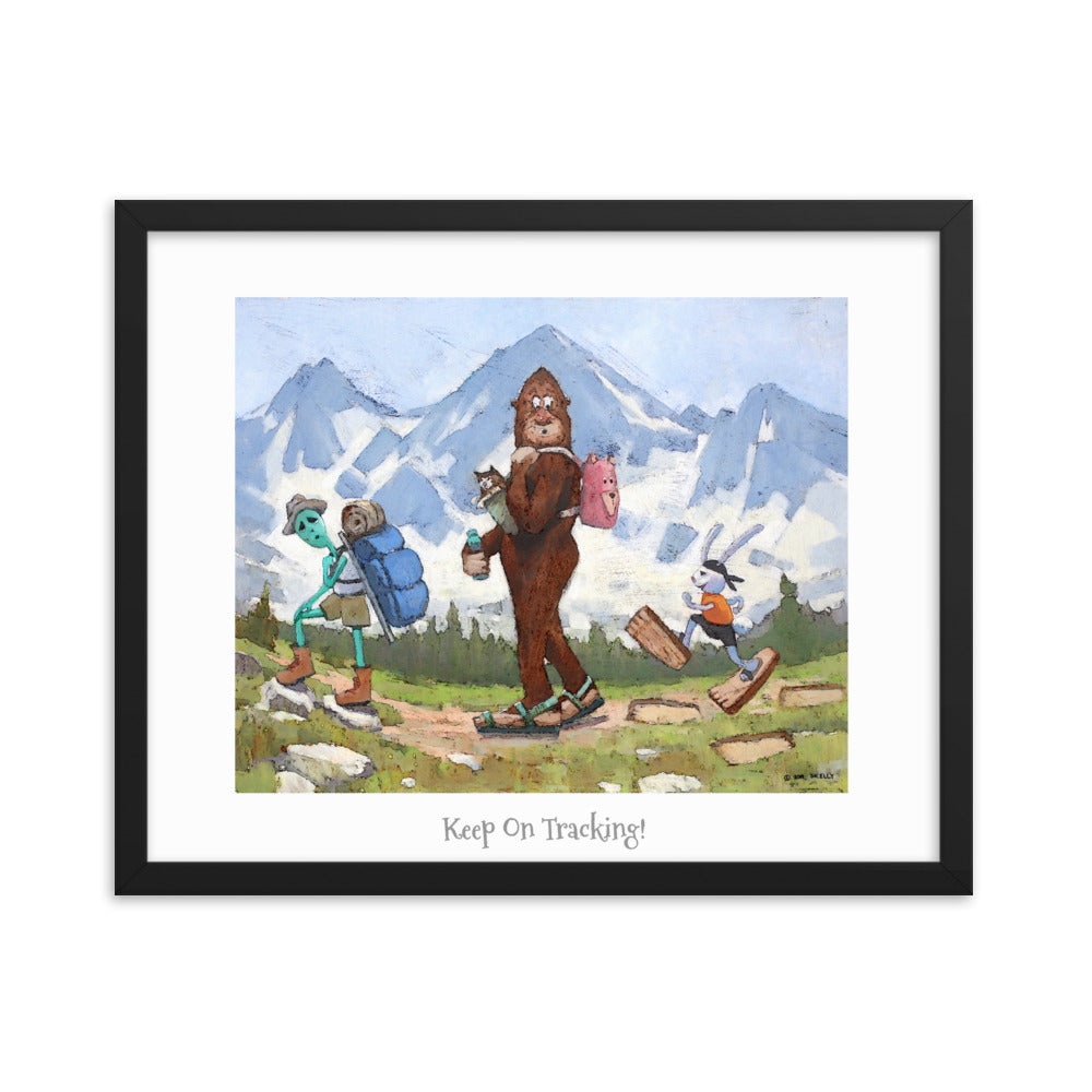 "The Hikers Framed poster 16"" x 20"""