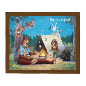 Happy Campers Throw Blanket