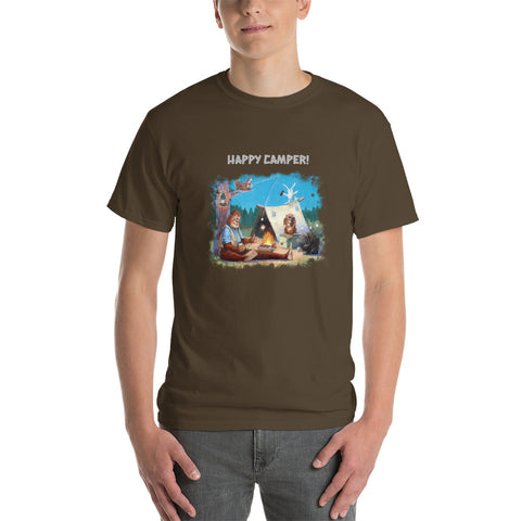 Happy Camper Mens Short Sleeve T-Shirt