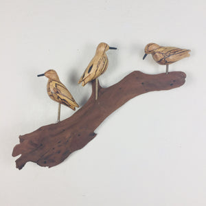"3 ""Peeps"" Wall Sculpture (Spalted Maple)"
