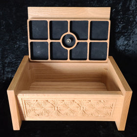 Oak Box with Flower Design