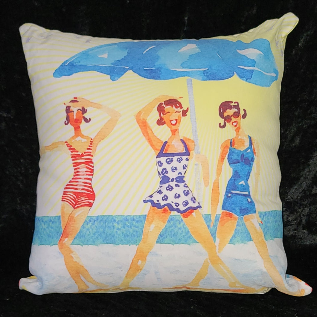 Beach Babes Pillow