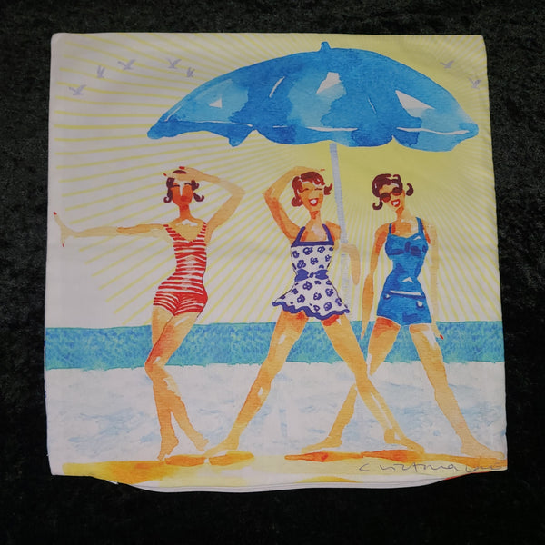 Pillow Cover - Beach Babes