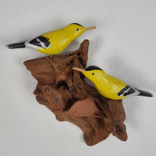 Load image into Gallery viewer, Wall Sculpture - 2 Gold Finches