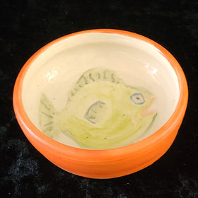 Bowl - Orange Rimmed Fish Dish