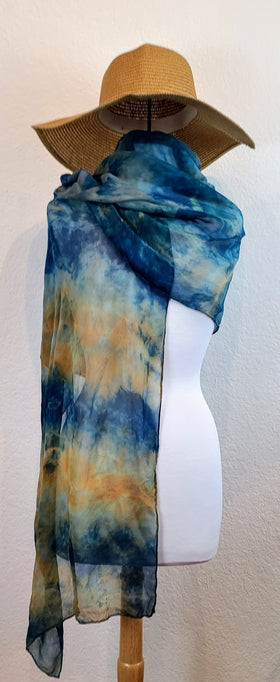 Scarf - Blue and Yellow