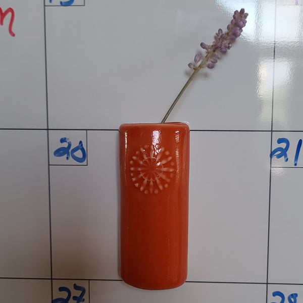 Vase - Magnetic Bud Flower Design Assorted Colors