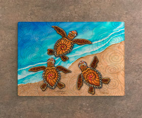 Cutting Board - 3 Baby Turtles