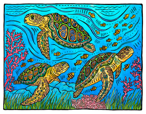 Photo Giclee - 3 Loggerheads