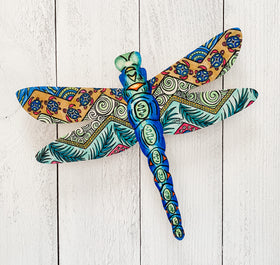 Wall Art - Blue Tropical Dragonfly