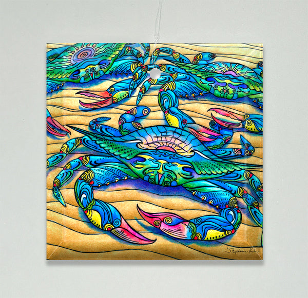 Ornament/Suncatcher - Blue Crabs