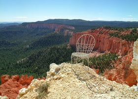 Mrs. Davis' Chair overlooking Bryce Canyon in Utah