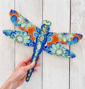 Wall Art - Dragonfly Flowers