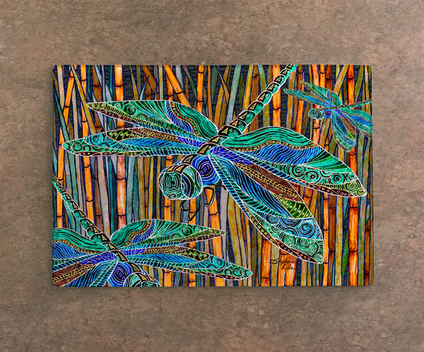 Cutting Board - Dragonfly Garden