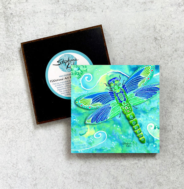 Magnet - Green Dragonfly