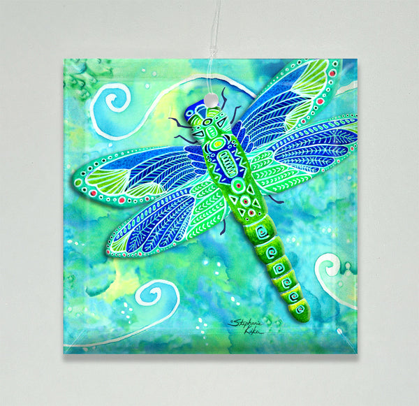 Ornament/Suncatcher - Green Dragonfly