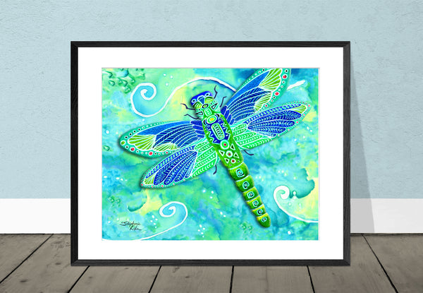 Photo Giclee - Green Dragonfly