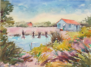 Watercolor Painting - Hatteras Day II