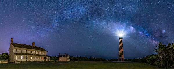 Hatteras Light and Milky Way