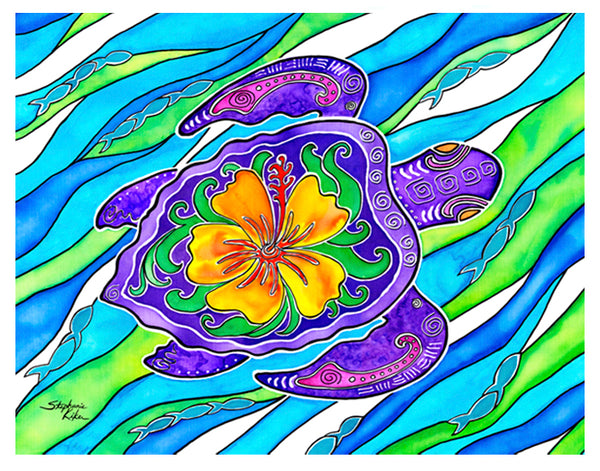 Photo Giclee - Hibiscus Turtle