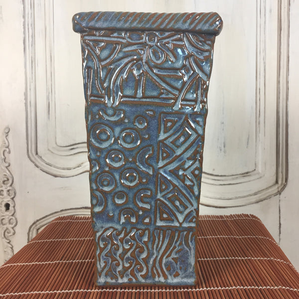 Vase - Tall Sea Blue
