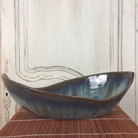 Bowl - Blue Leaf Shaped