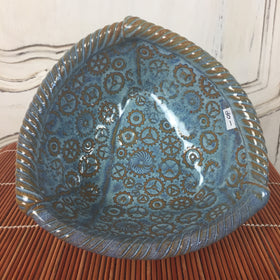 Bowl - Three Sided Blue