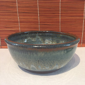 Bowl - Dull Rust and Vibrant Blue
