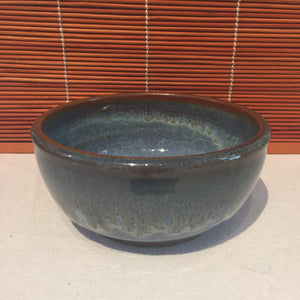 Green Tinted Blue Bowl