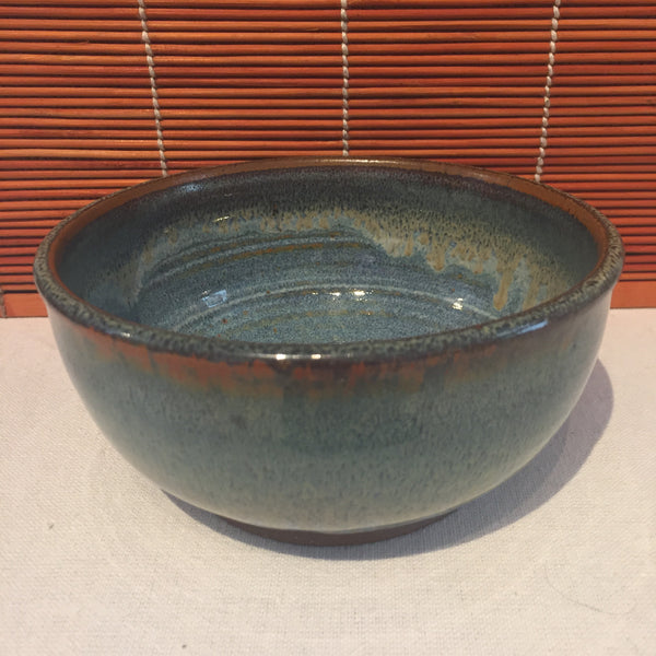 Bowl - Cyan and Dark Blue Tinted