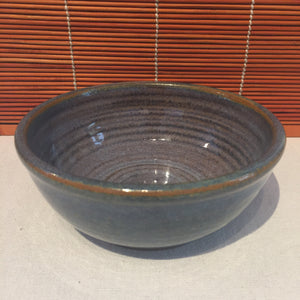 Variegated Brown and Blue Bowl