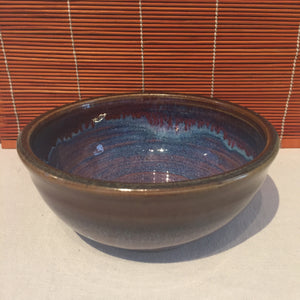 Variegated Blue and Brown Bowl