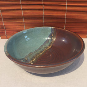 Bowl - Blue and Brown