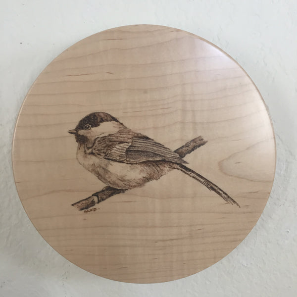 Lazy Susan Chickadee Design
