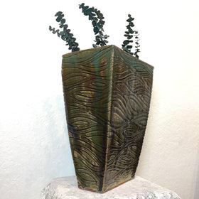 Vase - Brown and Green