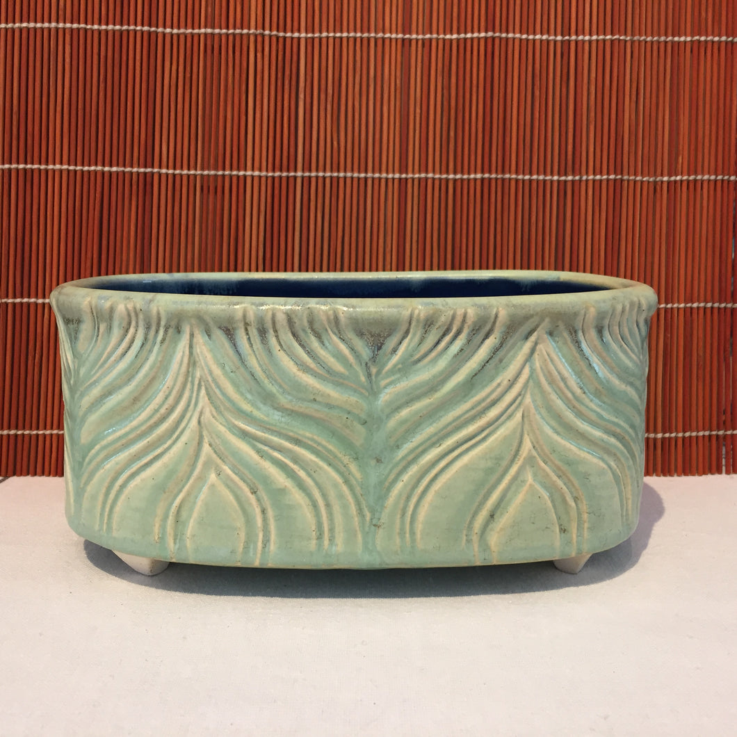 Soft Blue Horizontal Pot